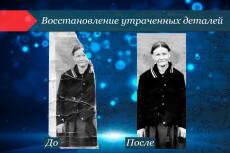 Поздравительный коллаж из 1 фото 56 - kwork.ru
