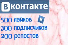 Продвижение вашей группы Вк +200 подписчиков + 100 лайков +50 репостов 4 - kwork.ru