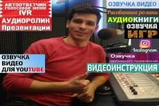 Озвучка видео, кино, рекламы 3 - kwork.ru