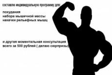 Составлю индивидуальную программу для похудения 17 - kwork.ru