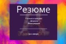 Составлю грамотное резюме 22 - kwork.ru