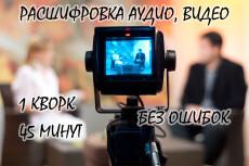 Расшифровка аудио- и видео файлов 13 - kwork.ru