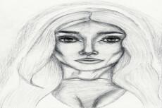 Нарисую Ваш портрет по фото. техника (графика,гуашь,цветные карандаши) 5 - kwork.ru