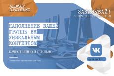 Наполню контентом группу Вконтакте 4 - kwork.ru