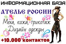 Базы Юрлиц России, сегментированные по городам 7 - kwork.ru