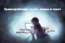 Транскрибация, перевод из аудио в текст, перевод из видео в текст 18 - kwork.ru