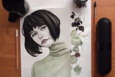Качественный портрет акварелью 14 - kwork.ru