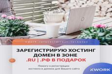 Зарегистрирую и подготовлю хостинг + бонус месяц хостинга бесплатно 22 - kwork.ru