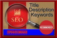 Сформирую мета-теги title, description и keywords 11 - kwork.ru