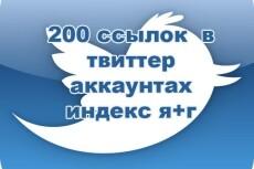 500 ссылок в Твиттер 12 - kwork.ru