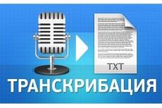 Сделаю расшифровку 40 минут аудио- и видеоматериала 19 - kwork.ru