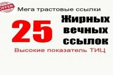 20 + 20 жирные вечные ссылки 40 трастовых сайтов с ИКС выше 1000 9 - kwork.ru