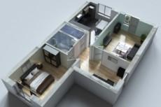 Создам архитектурную визуализацию по готовой модели с одного ракурса 13 - kwork.ru