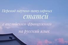 Перевод текст с французского языка и наоборот 23 - kwork.ru