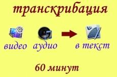 Транскрибация. Аудио-Видео в текст 22 - kwork.ru
