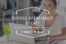 Транскрибация, переведу аудио и видео в текст 23 - kwork.ru