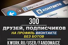 500 живых участников в группу ВК, ВКонтакте, без ботов и программ 6 - kwork.ru