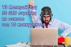 10 SEO ТЗ на продвигающий текст для вашего сайта для 10 страниц 5 - kwork.ru