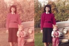 Восстановление старых фотографий, ретушь и окрашивание чб фото 26 - kwork.ru