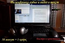 Расшифровка любых видео- и аудиоматериалов 23 - kwork.ru