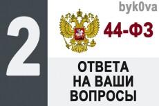 Проверю Вашу заявку на участие в электронном аукционе по 44-ФЗ 3 - kwork.ru