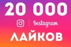 30000 лайков на фото в Instagram. Можно распределить 22 - kwork.ru