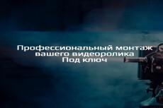 Услуги видеомонтажа. Создание видео под ключ 6 - kwork.ru