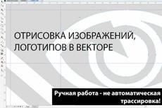 Отрисую ваш графический элемент из растра в векторный формат 45 - kwork.ru