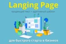 Сделаю Landing page под ключ 66 - kwork.ru