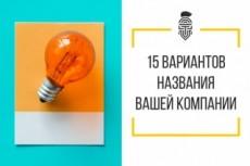 Нейминг. Уникальное название фирмы, бренда, товара 33 - kwork.ru