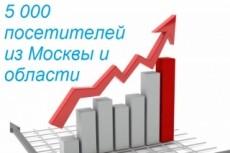 Качественный трафик. 5000 посетителей из Москвы и области 7 - kwork.ru