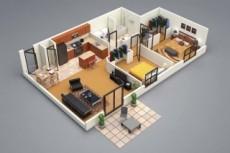 Создание 3D зданий в Revit. Рендер здания 12 - kwork.ru