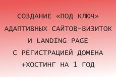 Создание и адаптация сайта-визитки по шаблону 12 - kwork.ru