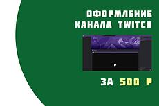 Полное оформление Twitch канала 24 - kwork.ru