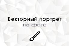 Портрет по Вашей фотографии в векторный стиль, Поп Арт 11 - kwork.ru