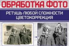 из ч-б фотографии цветную (с легкой ретушью) 8 - kwork.ru