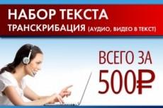 Перевод текста, аудио или видео на английский и славянские языки 8 - kwork.ru