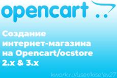 Создам интернет-магазин на Opencart 8 - kwork.ru