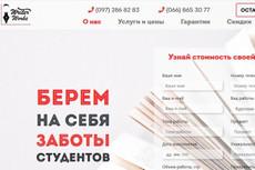 Разработаю лендинг, дизайн главной страницы сайта 25 - kwork.ru