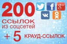 260 вечных ссылок из различных социальных сетей на ваш сайт 6 - kwork.ru