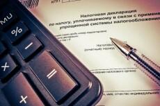 Подготовка декларации по УСН, объект налогообложения доходы 5 - kwork.ru