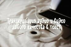 Перепечатаю любой текст (аудио,видео,ручной) 6 - kwork.ru