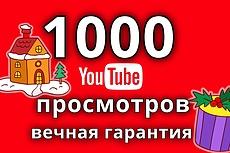 2000 просмотров видео YouTube + 10 комментарий+10 лайков +40 репостов 10 - kwork.ru