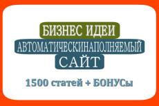 Новости и СМИ 1500 статей автонаполняемый сайт 20 - kwork.ru