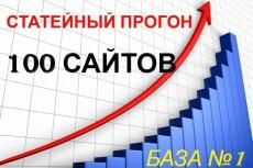 Прогон по 110 трастовым сайтам 4 - kwork.ru