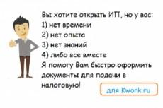 Заявление на регистрацию ИП и открытие рас. счета в тинькофф в подарок 23 - kwork.ru