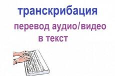 Расшифровка любых видео- и аудиоматериалов 22 - kwork.ru