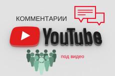 135 комментариев к видео YouTube 8 - kwork.ru