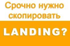 Копия лендинга вручную за пару часов 6 - kwork.ru