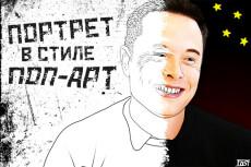 Нарисую поп-арт портрет по фото 21 - kwork.ru